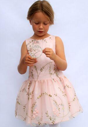 Isabel Garretón Festival Pink Flower Girl Dress