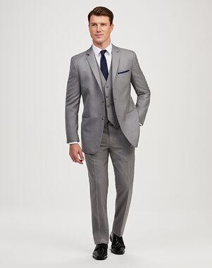 Jos. A. Bank 2-Button Notch Lapel Gray Suit Gray Tuxedo