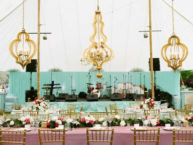 Gold Moroccan-inspired chandeliers