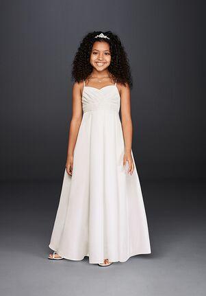 David's Bridal Flower Girl FG3707 White Flower Girl Dress
