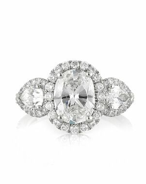 Mark Broumand Elegant Oval Cut Engagement Ring