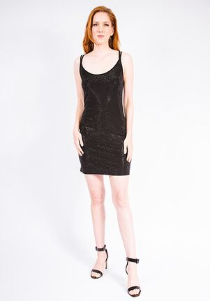 Grayse Wedding Party Pave Tank Dress - W938015 Black Mother Of The Bride Dress