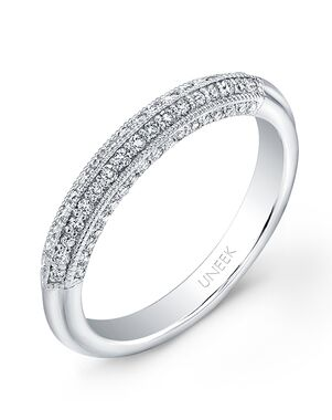 Uneek Fine Jewelry UWB021 White Gold Wedding Ring
