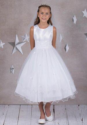 Kid's Dream 198 White Flower Girl Dress