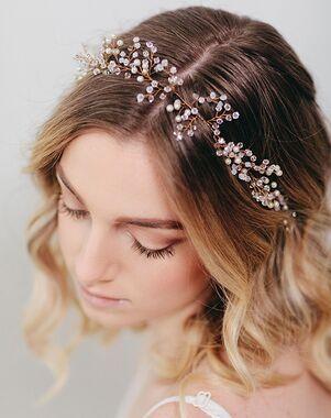 Davie & Chiyo   Hair Accessories & Veils Marielle Hair Wreath Gold, Ivory, Silver Headband