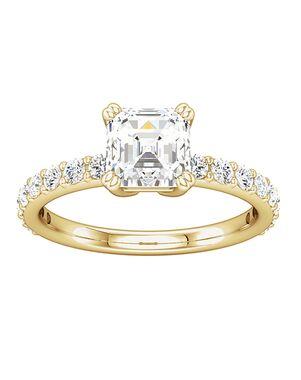 ever&ever Vintage Asscher Cut Engagement Ring
