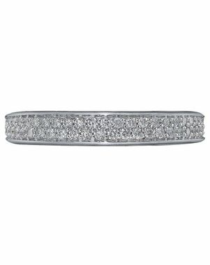 Christopher Designs 94B2-TQ White Gold Wedding Ring