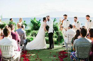 Tropical First Kiss at Sheraton Maui Resort and Spa in Hawaii