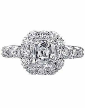 Christopher Designs Cushion Cut Engagement Ring