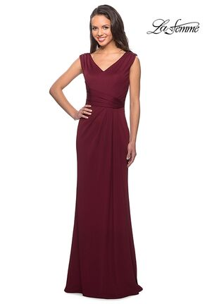 La Femme Evening 26410 Red Mother Of The Bride Dress