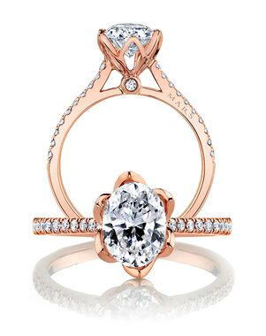 MARS Fine Jewelry Unique Oval Cut Engagement Ring