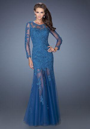 La Femme Evening 19343 Blue Mother Of The Bride Dress