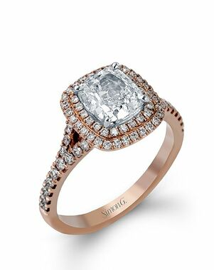 Simon G. Jewelry Cushion Cut Engagement Ring