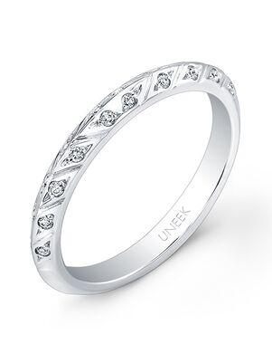 Uneek Fine Jewelry UWB018 White Gold Wedding Ring
