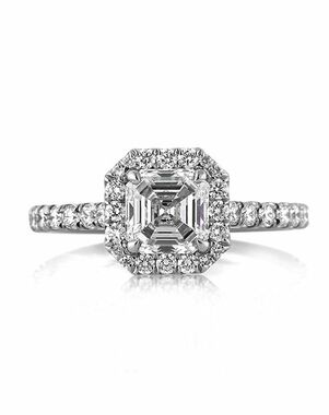 Mark Broumand Classic Asscher Cut Engagement Ring