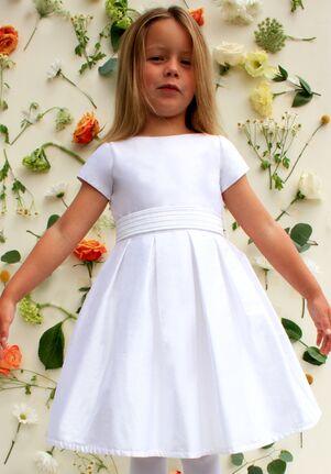 Isabel Garretón Chic Ivory Flower Girl Dress