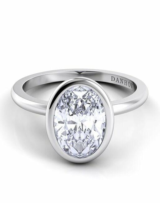 Danhov Oval Cut Engagement Ring