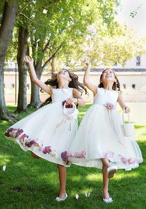 Kid's Dream 160B White Flower Girl Dress