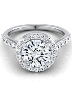 RockHer Classic Round Cut Engagement Ring