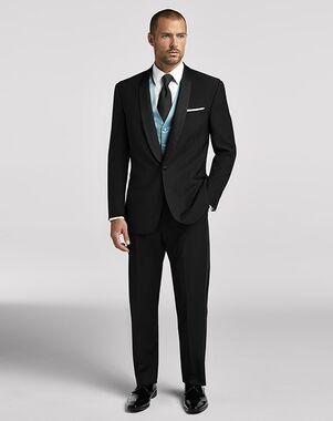 Men's Wearhouse Calvin Klein® Shawl Lapel Tuxedo Black Tuxedo