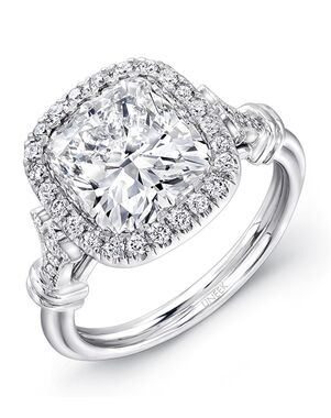 Uneek Fine Jewelry Vintage Cushion Cut Engagement Ring
