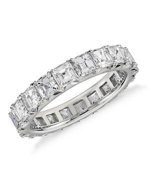 Platinum Jewelry Asscher Cut Engagement Ring