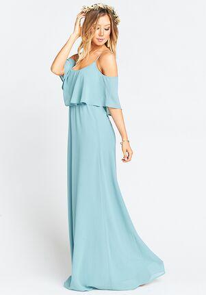 Show Me Your Mumu Caitlin Ruffle Maxi Dress - Poolside Chiffon Scoop Bridesmaid Dress