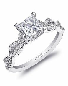Coast Diamond Elegant Princess Cut Engagement Ring