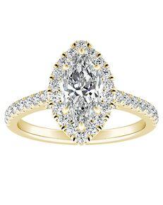 DiamondWish.com Glamorous Princess, Asscher, Cushion, Emerald, Marquise, Pear, Round, Oval Cut Engagement Ring