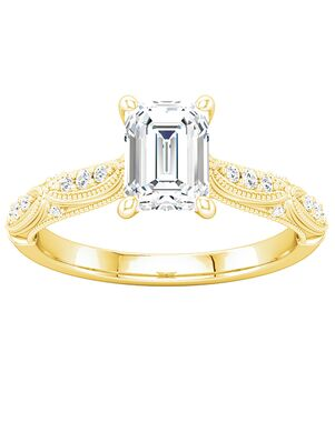ever&ever Vintage Princess, Asscher, Cushion, Emerald, Heart, Marquise, Pear, Round, Oval Cut Engagement Ring