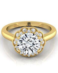 RockHer Vintage Round Cut Engagement Ring