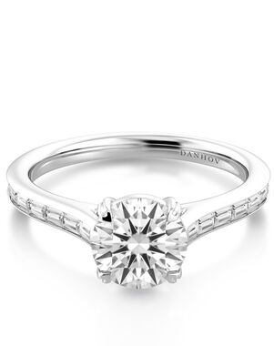 Danhov Classic Princess, Asscher, Cushion, Emerald, Heart, Marquise, Pear, Radiant, Round, Oval Cut Engagement Ring