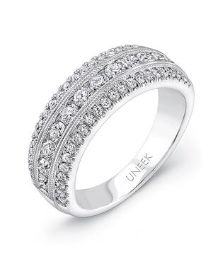 Uneek Fine Jewelry UWB023 White Gold Wedding Ring