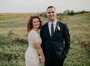 Rachel and Sam Placzek used a palette of muted earth tones and understated modern touches to pull off their organic, bohemian wedding at Country Pines