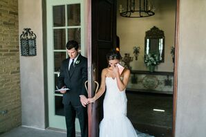Bride and Groom Have First Touch