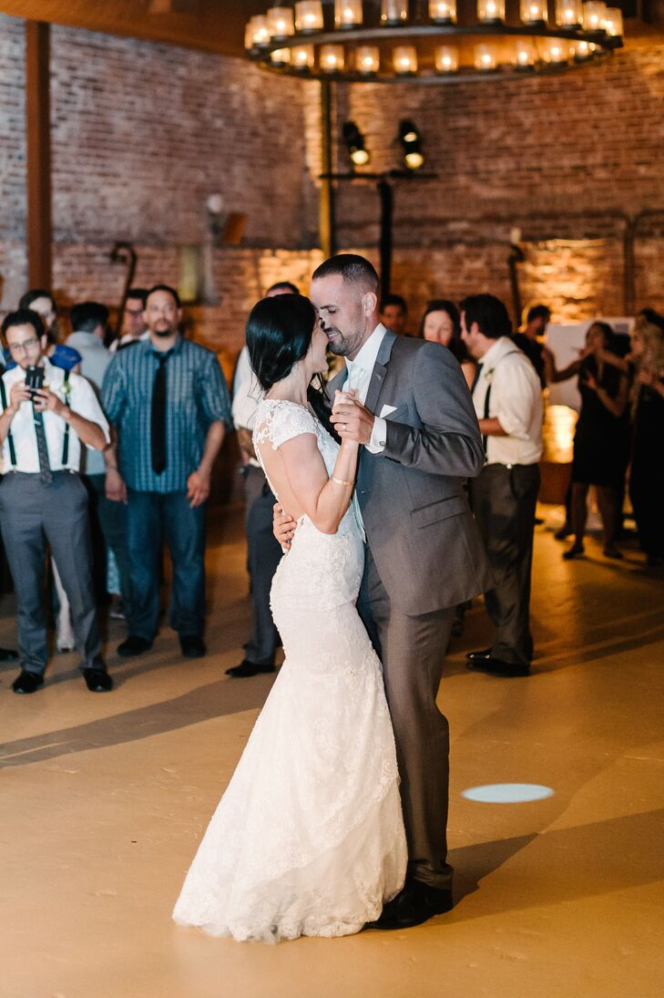 "Jeanne and Beau had their first dance to Meghan Trainor and John Legend's ""Like I'm Gonna Lose You"" in the barrel room at the Vintage House in Yountville, California."