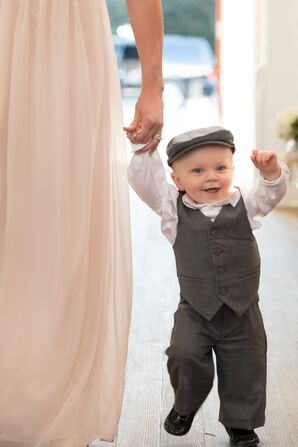 Ring Bearer in Gray Vest and Hat