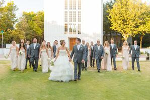Light Champagne and Gray Wedding Party