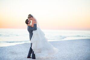 Emerald Coast Beach Couple Shot