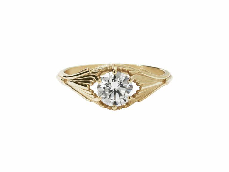 Meadlowlark vintage engagement ring