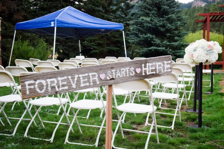 Rustic Wooden Ceremony Sign