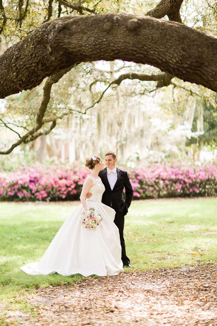 What started as an 18th century-inspired wedding ended in something we would never expect – a masquerade ball! Patricia Miller (31 and an aerospace en
