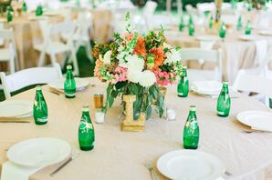 Lush Dahlia Centerpiece Arrangements