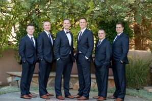 Black Suits at Las Vegas Garden Wedding