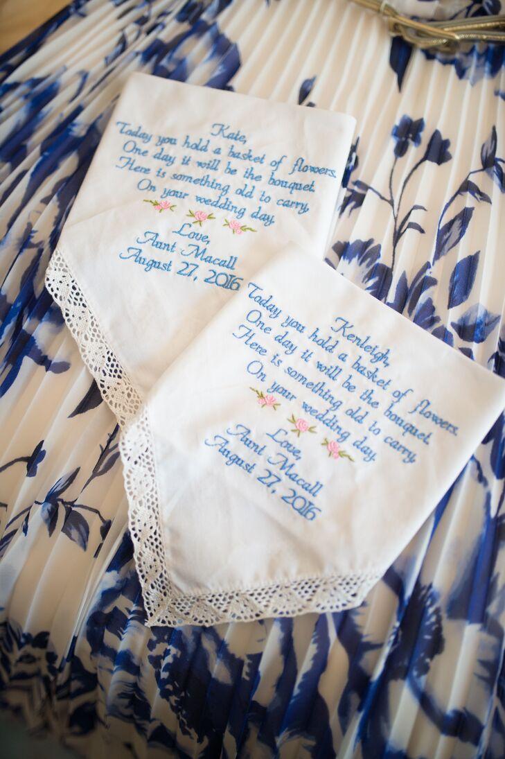 Hand-Stitched Handkerchief Flower Girl Gifts