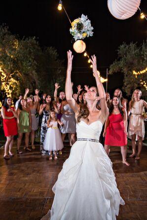 Bridal Bouquet Toss on Dance Floor