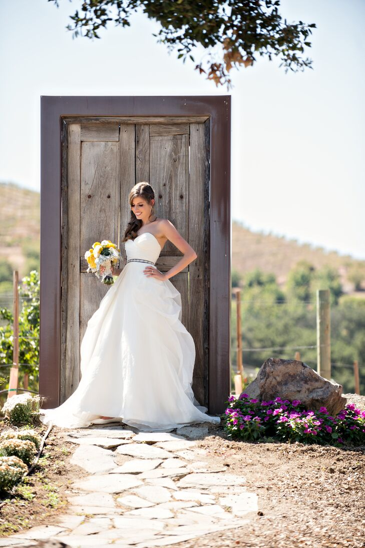 Strapless Watters Wedding Gown with Sweetheart Neckline