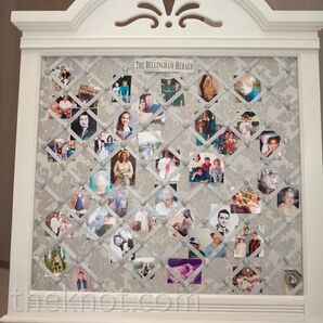 Family Photo Wedding Decor