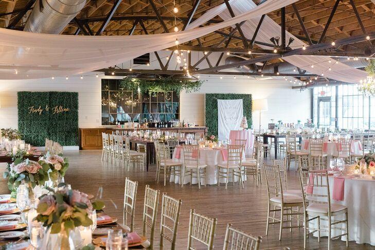 Romantic Wedding Reception at Summerour Studio in Atlanta, Georgia
