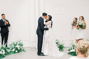 Modern, Minimal First Kiss at HNYPT in Los Angeles, California